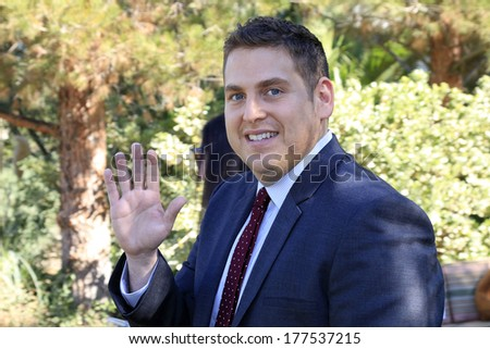PALM SPRINGS, CA - JAN 5: Jonah Hill at the 10 Directors to Watch brunch at The Parker Hotel on January 5, 2014 in Palm Springs, California - stock photo