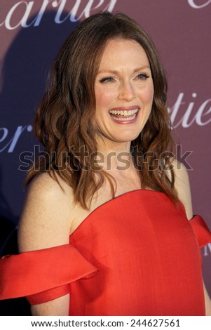 PALM SPRINGS, CA - JAN 3: Julianne Moore arrives at the 2015 Palm Springs International Film Festival Awards Gala at the Palm Springs Convention Center on January 3, 2015 in Palm Springs, CA. - stock photo