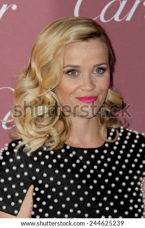 PALM SPRINGS, CA - JAN 3: Reese Witherspoon arrives at the 2015 Palm Springs Film Festival Awards Gala at the Palm Springs Convention Center on January 3, 2015 in Palm Springs, CA. - stock photo