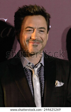 PALM SPRINGS, CA - JAN 3: Robert Downy Jr. arrives at the 2015 Palm Springs Film Festival Awards Gala at the Palm Springs Convention Center on January 3, 2015 in Palm Springs, CA. - stock photo