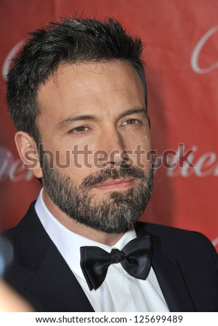 PALM SPRINGS, CA - JANUARY 5, 2013: Ben Affleck at the Awards Gala for the 2013 Palm Springs International Film Festival.