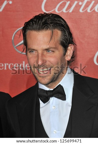 PALM SPRINGS, CA - JANUARY 5, 2013: Bradley Cooper at the Awards Gala for the 2013 Palm Springs International Film Festival. - stock photo