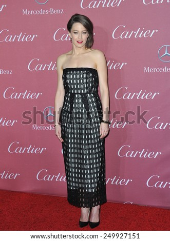 PALM SPRINGS, CA - JANUARY 6, 2015: Carrie Coon at the 2015 Palm Springs Film Festival Awards Gala at the Palm Springs Convention Centre.  - stock photo