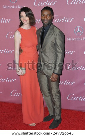 PALM SPRINGS, CA - JANUARY 6, 2015: David Oyelowo & wife Jessica Oyelowo at the 2015 Palm Springs Film Festival Awards Gala at the Palm Springs Convention Centre.  - stock photo
