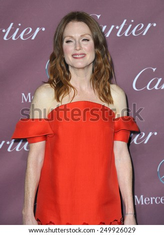 PALM SPRINGS, CA - JANUARY 6, 2015: Julianne Moore at the 2015 Palm Springs Film Festival Awards Gala at the Palm Springs Convention Centre.
