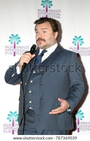 "PALM SPRINGS - JAN 3:  Jack Black at the PSIFF ""The Polka King"" Screening at Camelot Theater on January 3, 2018 in Palm Springs, CA"