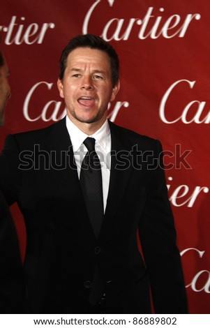 PALM SPRINGS - JAN 8: Mark Wahlberg at the 2011 Palm Springs International Film Festival Awards Gala held at the convention center in Palm Springs, California on January 8, 2011 - stock photo