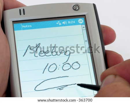 palm top computer - stock photo