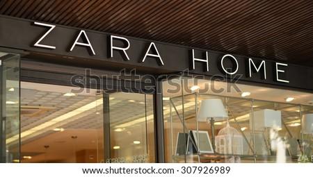 """PALMA, MALLORCA - JULY 29, 2015: Shop and the logo of the brand """"Zara Home"""" in Palma de Mallorca."""