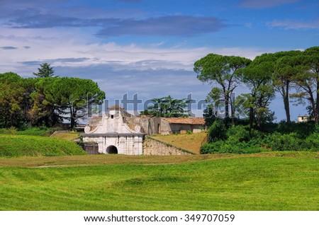 Palmanova in Italy, the fortress  - stock photo