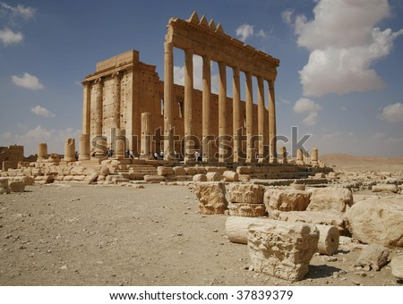 Palmira, Syria. Ruins of an old city. II thousand years BC. The Pearl of Syria. The city is constructed by the Roman empire.