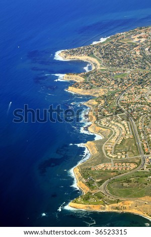 palos verde estate area in California - stock photo