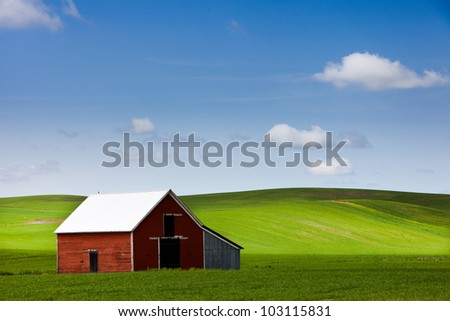 Palouse Farms and Fields - stock photo