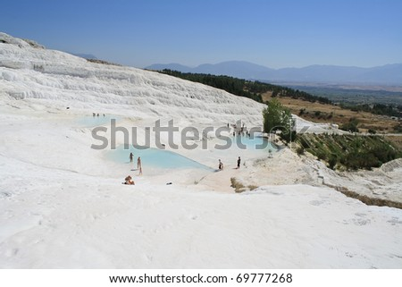 Pamukkale, is a natural site in Denizli Province in south-western Turkey.