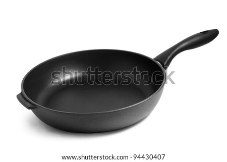 pan black frying isolated on white background - stock photo