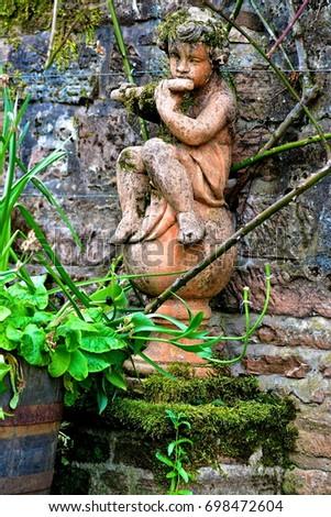 Charming Pan Garden Statue