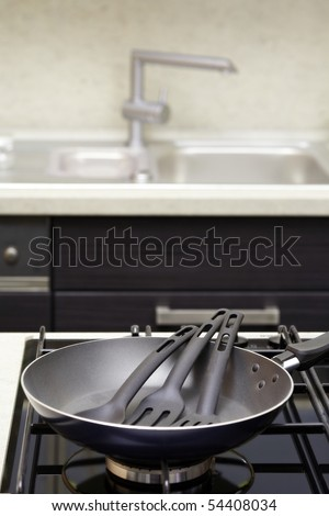 Pan in kitchen