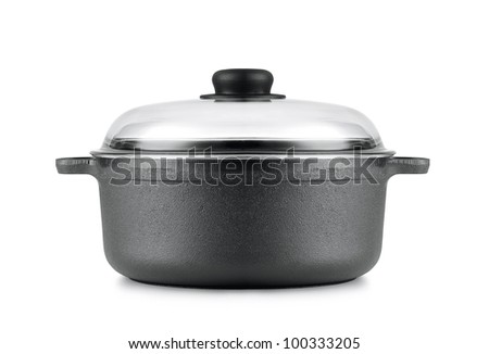 pan isolated on a white - stock photo