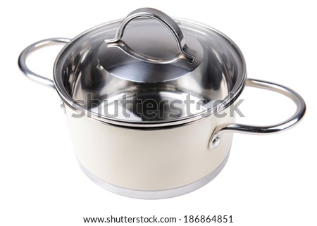 Pan isolated on white