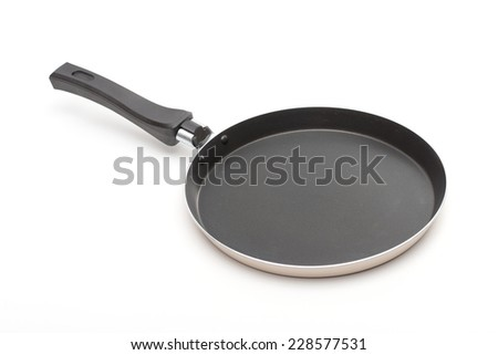 pan on the white background - stock photo