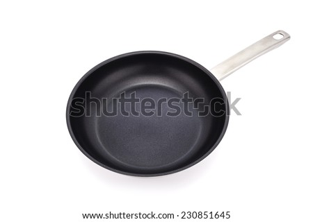 pan on white background