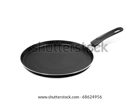Pan with handle isolated on white