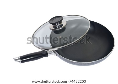pan with lid on a white background