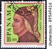 PANAMA - CIRCA 1966: Postage stamps printed in Panama, shows an Italian writer, poet, Dante Alighieri, circa 1966 - stock photo