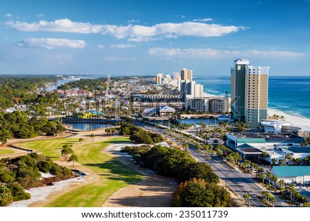 Panama City Beach, Florida, view of Front Beach Road - stock photo
