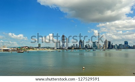 Panama City skyline - stock photo