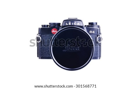 PANAMA, PANAMA - JULY 30, 2015: Leica R4  were 35mm SLR cameras manufactured by Leica between 1980 and 1996