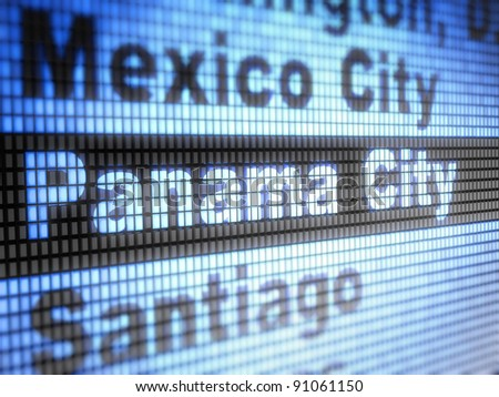 Panama. World capitals Full collection of icons like that is in my portfolio - stock photo