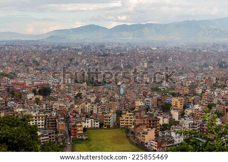 Panarama of Kathmandu city, Nepal - stock photo