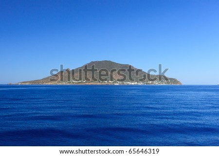 Panarea island in Italy, part of the group of Aeolian islands