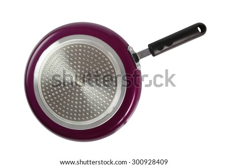 Pancake Frying Pan. Isolated with clipping path. - stock photo