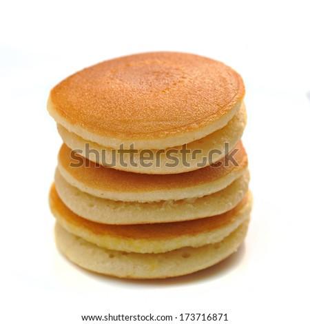 Pancake isolated on white background - stock photo