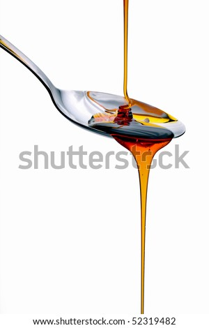Pancake syrup - stock photo