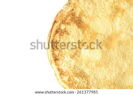 Pancakes, crepes, (top view)