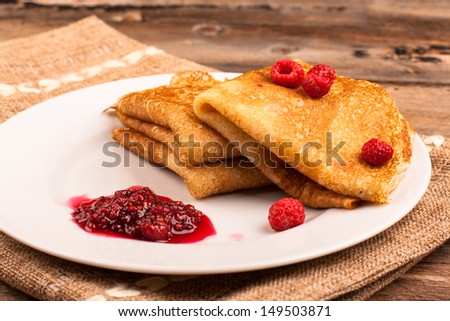 Pancakes on the plate