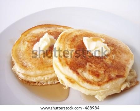 pancakes taken in natural light - stock photo