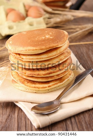 pancakes with ingredients