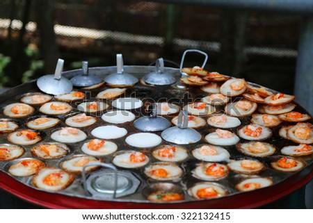 Pancakes with Shrimps Vietnam Street Food
