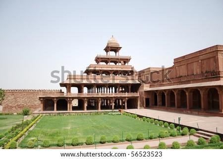 Panch Mahal at Fatehpur Sikri - stock photo