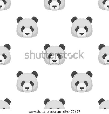 Panda Icon Cartoon Style Isolated On Stock Illustration 696477697