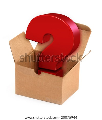 Pandora`s box concept on white background - stock photo