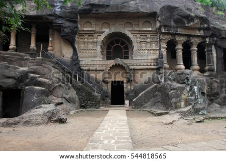 Pandu Leni caves situated in Nashik, Maharashtra, India. This 3rd BC caves were built by Hinayana Buddhists.