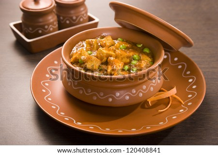 Paneer Butter Masala, Indian Dish - stock photo