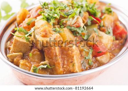 Paneer vegetable jalfrezi - stock photo