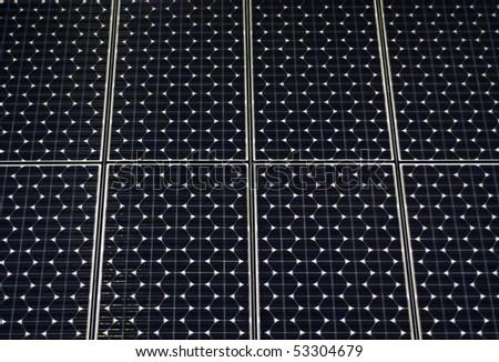 Panel and sun - stock photo