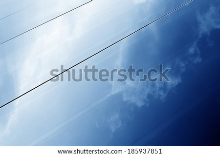 Panel for photovoltaic power generatio - stock photo